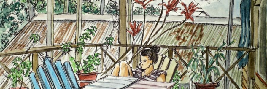 Aleisa - Hostel Heike (Panama) - Fineliner & Aquarell - DinA5