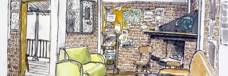 Aleisa - Hostel Plantation House Salento (Kolumbien) - Fineliner & Aquarell - DinA5 - Stefan Eisele