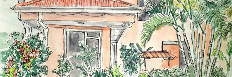 Aleisa - La Fortuna (Costa Rica) - Fineliner & Aquarell - DinA5 - Stefan Eisele