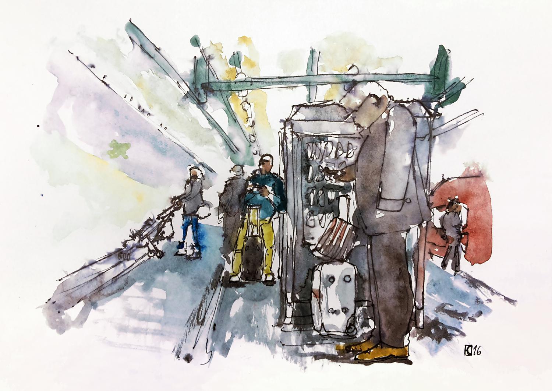 Aleisa - Stuttgart Bahnhof - Din A4 - Stefan Eisele - RGB
